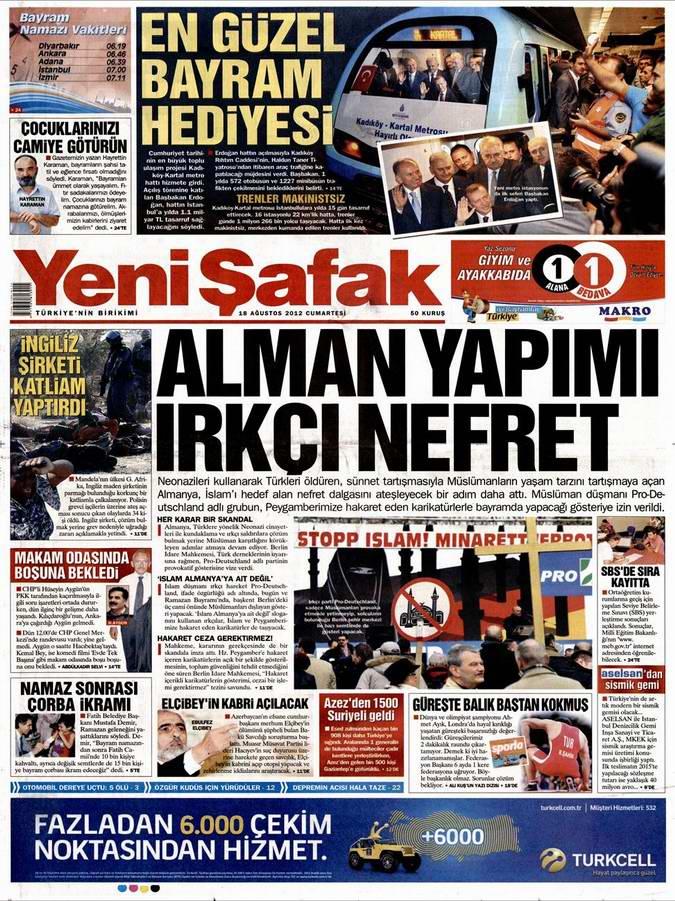 Gazete Manşetleri - 18 Ağustos Cumartesi 2