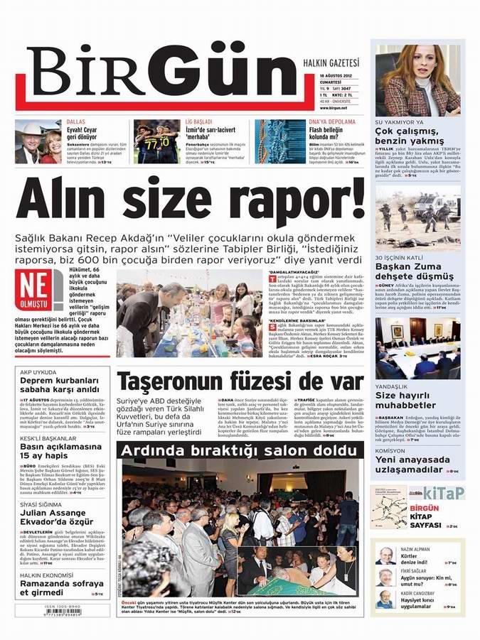 Gazete Manşetleri - 18 Ağustos Cumartesi 23