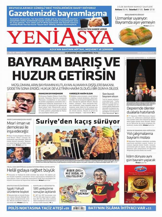Gazete Manşetleri - 18 Ağustos Cumartesi 3