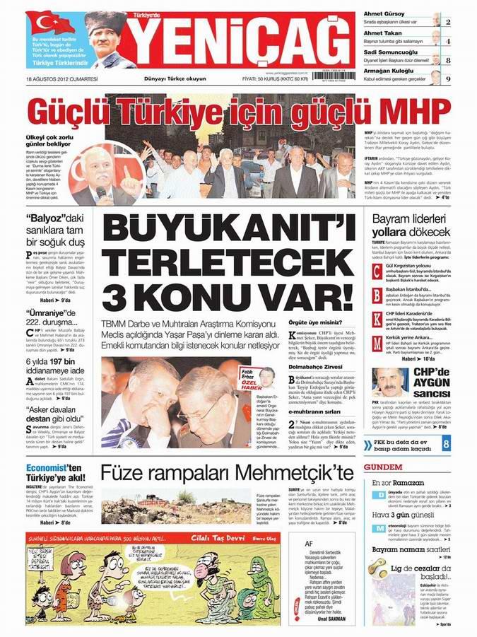 Gazete Manşetleri - 18 Ağustos Cumartesi 7