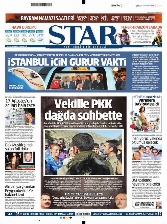 Gazete Manşetleri - 18 Ağustos Cumartesi 9