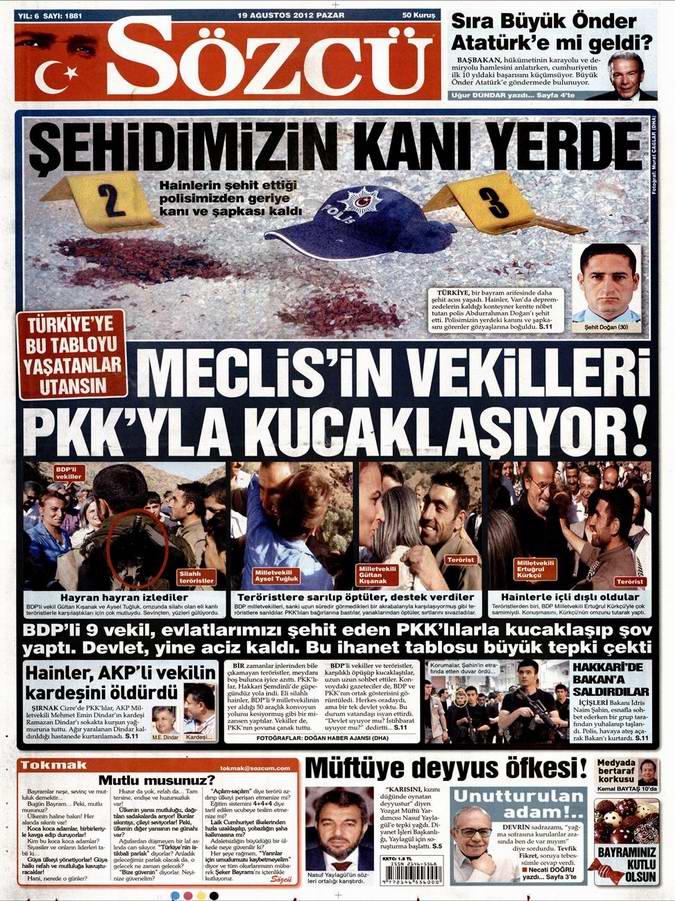 Gazete Manşetleri - 19 Ağustos Pazar 10