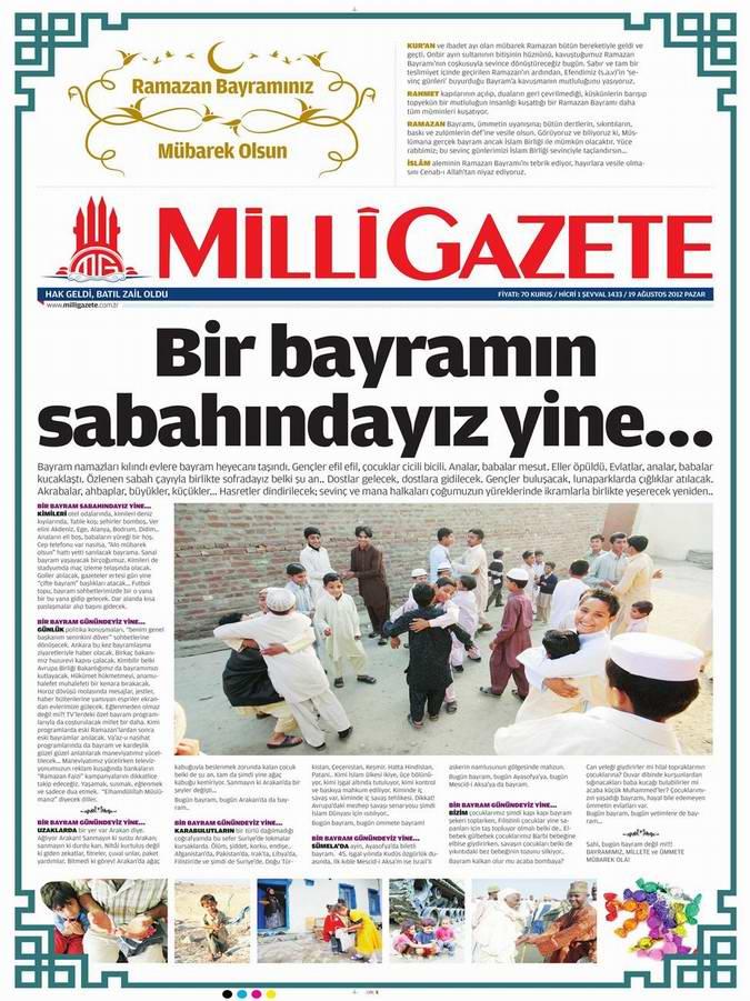 Gazete Manşetleri - 19 Ağustos Pazar 16