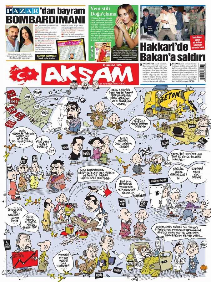 Gazete Manşetleri - 19 Ağustos Pazar 24