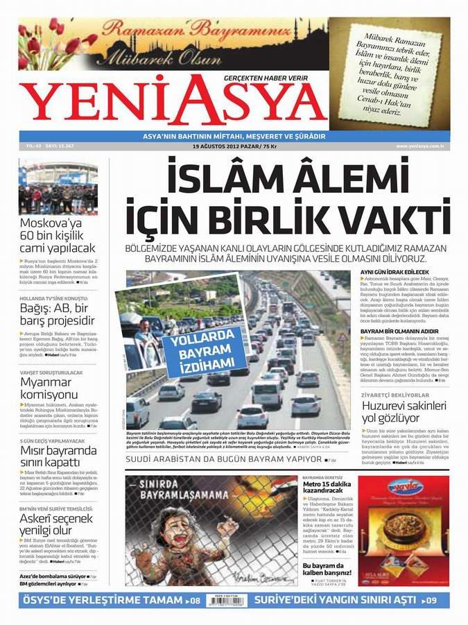 Gazete Manşetleri - 19 Ağustos Pazar 3