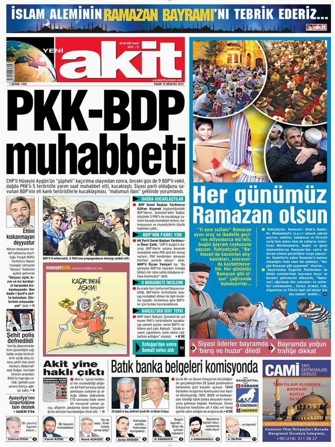 Gazete Manşetleri - 19 Ağustos Pazar 4