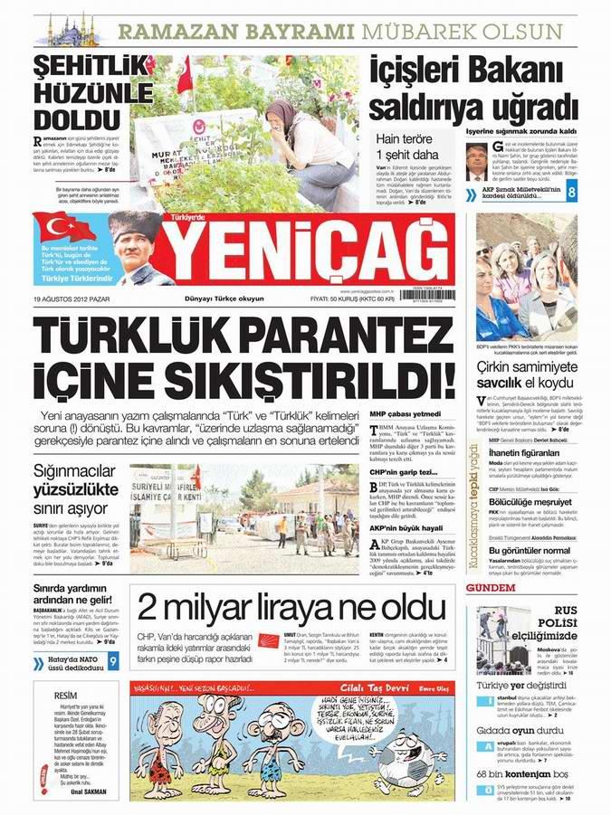 Gazete Manşetleri - 19 Ağustos Pazar 7