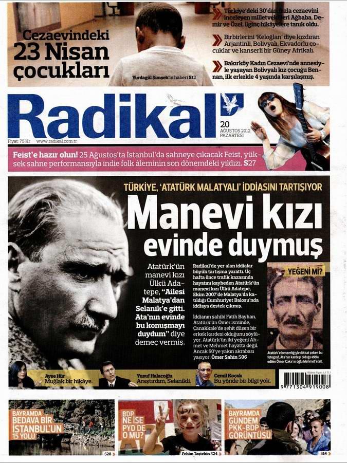 Gazete Manşetleri - 20 Ağustos Pazartesi 11