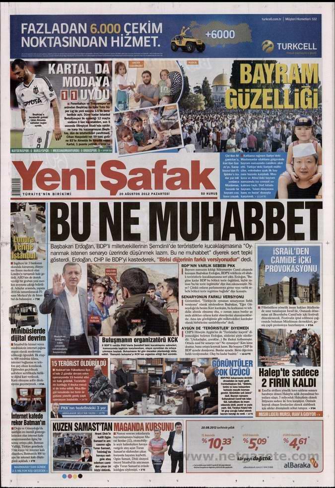 Gazete Manşetleri - 20 Ağustos Pazartesi 2