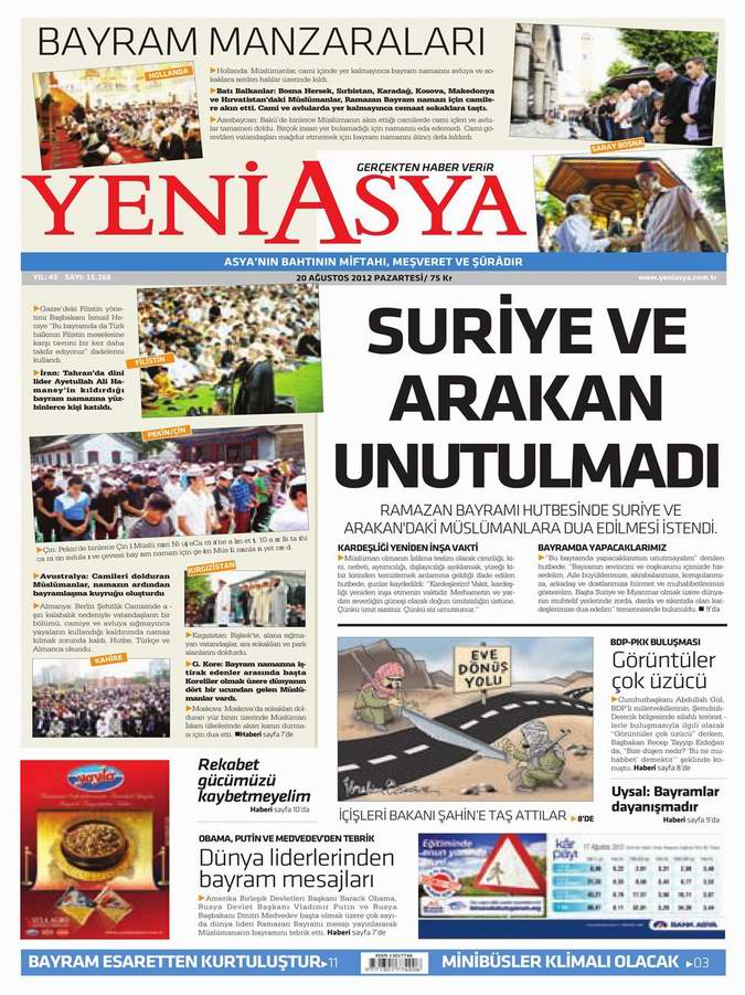 Gazete Manşetleri - 20 Ağustos Pazartesi 3
