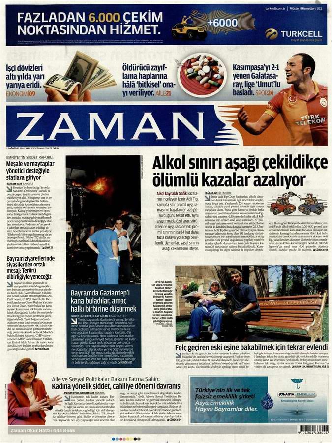 Gazete Manşetleri - 21 Ağustos Salı 1