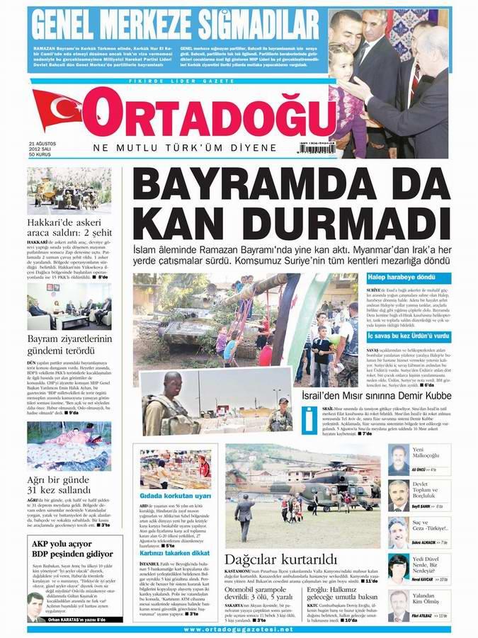 Gazete Manşetleri - 21 Ağustos Salı 10