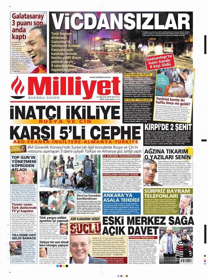 Gazete Manşetleri - 21 Ağustos Salı 11