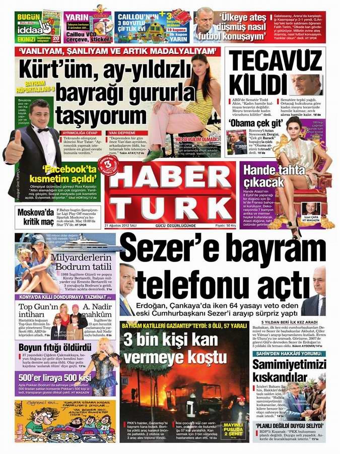 Gazete Manşetleri - 21 Ağustos Salı 13