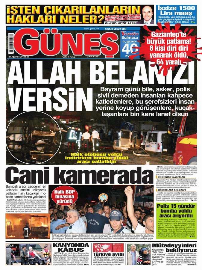 Gazete Manşetleri - 21 Ağustos Salı 14
