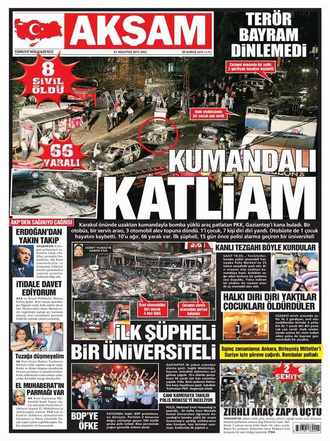 Gazete Manşetleri - 21 Ağustos Salı 17