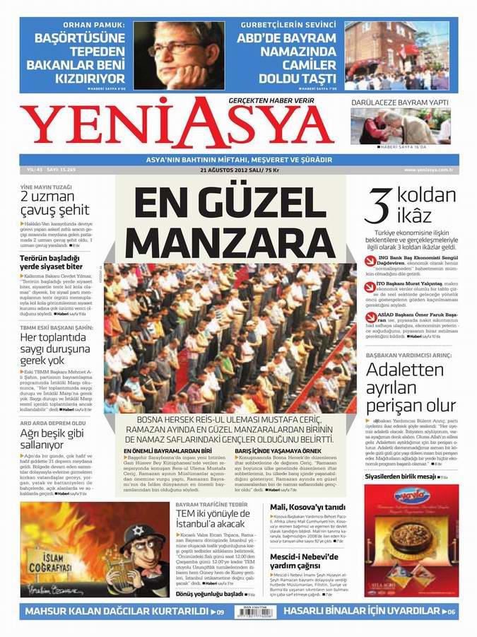 Gazete Manşetleri - 21 Ağustos Salı 2