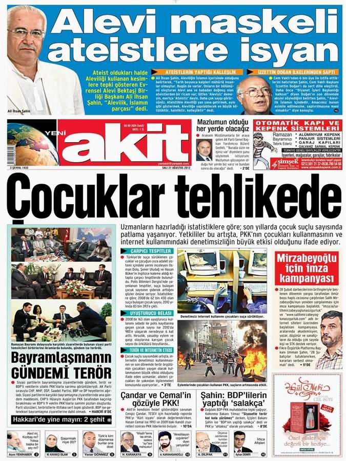 Gazete Manşetleri - 21 Ağustos Salı 3