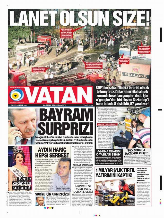 Gazete Manşetleri - 21 Ağustos Salı 4