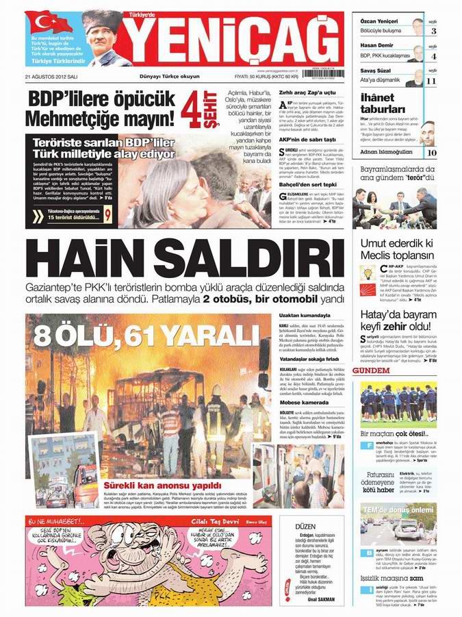 Gazete Manşetleri - 21 Ağustos Salı 5