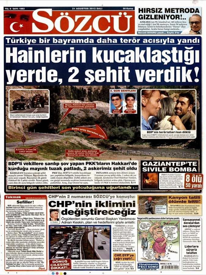Gazete Manşetleri - 21 Ağustos Salı 7