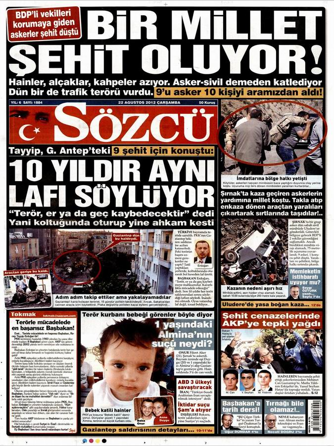 Gazete Manşetleri - 22 Ağustos Çarşamba 10