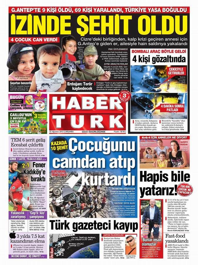 Gazete Manşetleri - 22 Ağustos Çarşamba 17