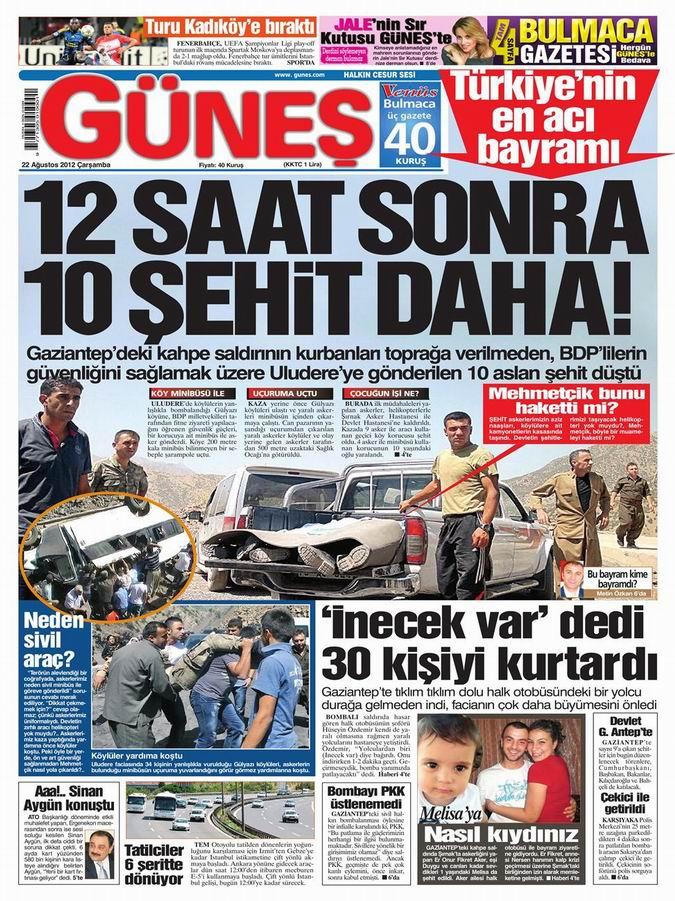 Gazete Manşetleri - 22 Ağustos Çarşamba 18
