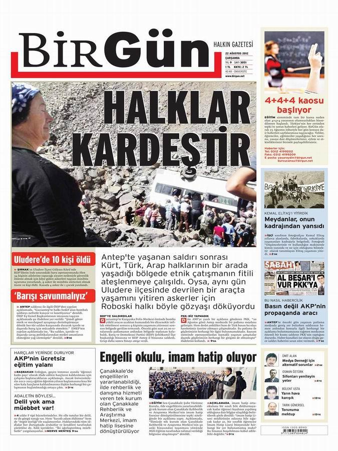 Gazete Manşetleri - 22 Ağustos Çarşamba 21