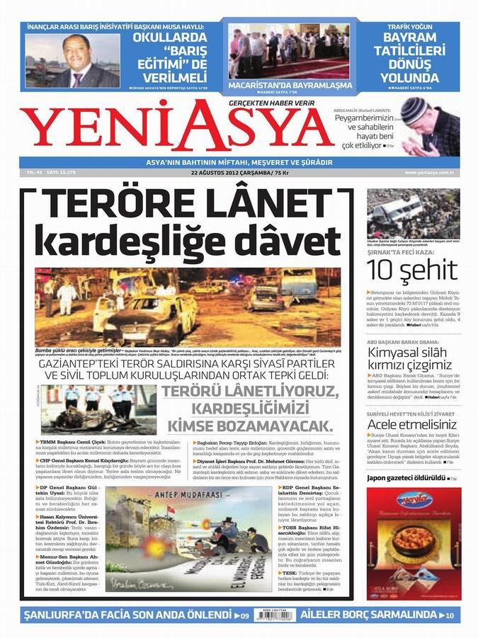 Gazete Manşetleri - 22 Ağustos Çarşamba 3