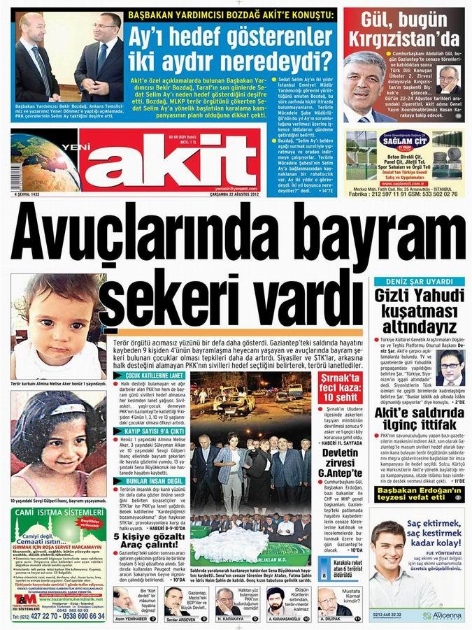 Gazete Manşetleri - 22 Ağustos Çarşamba 4