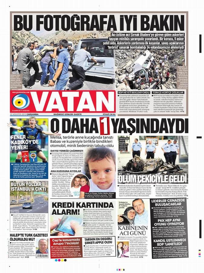 Gazete Manşetleri - 22 Ağustos Çarşamba 5