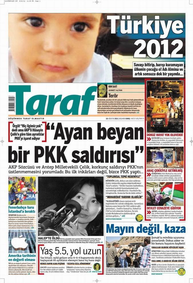 Gazete Manşetleri - 22 Ağustos Çarşamba 7