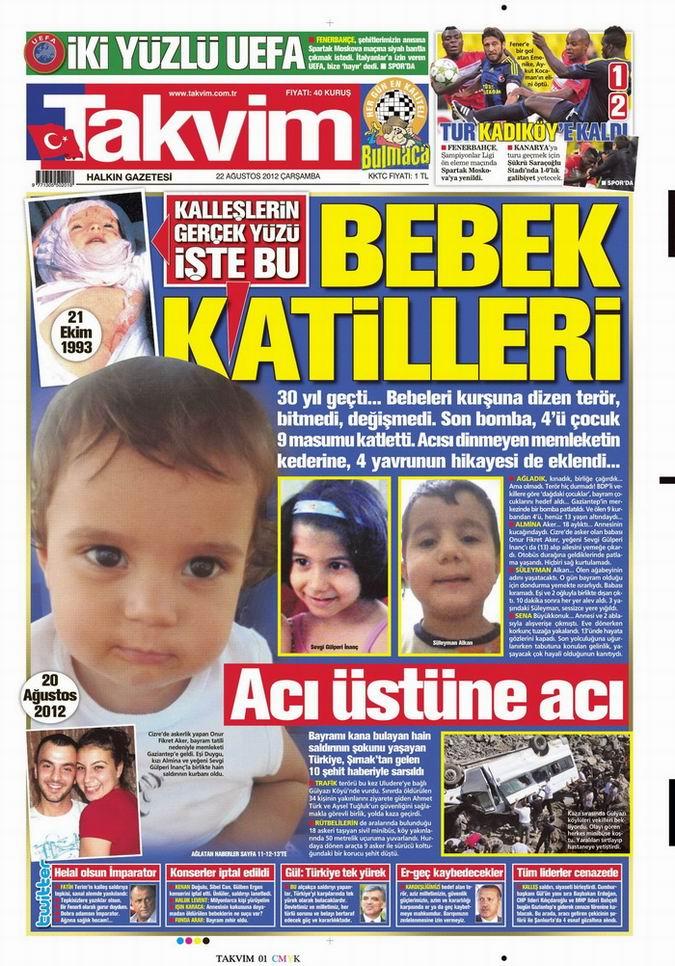 Gazete Manşetleri - 22 Ağustos Çarşamba 8