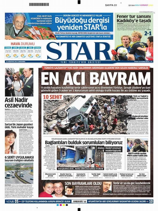 Gazete Manşetleri - 22 Ağustos Çarşamba 9