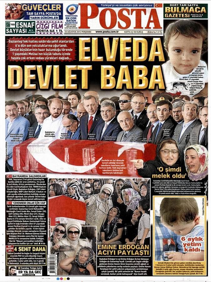 Gazete Manşetleri - 23 Ağustos Perşembe 12