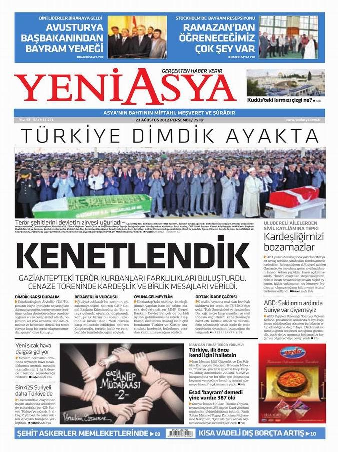 Gazete Manşetleri - 23 Ağustos Perşembe 3