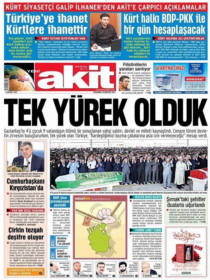Gazete Manşetleri - 23 Ağustos Perşembe 4