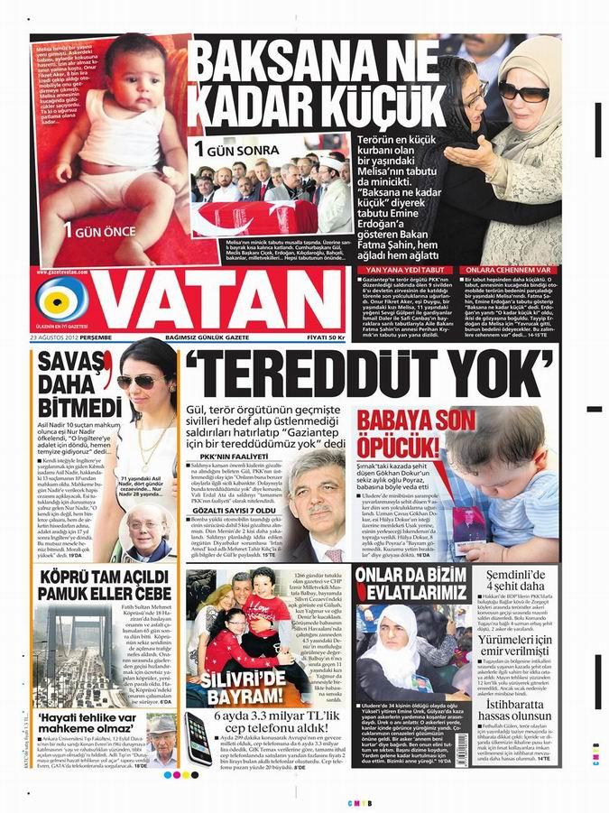 Gazete Manşetleri - 23 Ağustos Perşembe 5