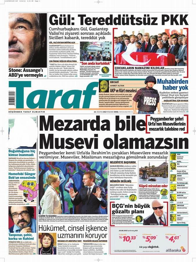Gazete Manşetleri - 23 Ağustos Perşembe 7