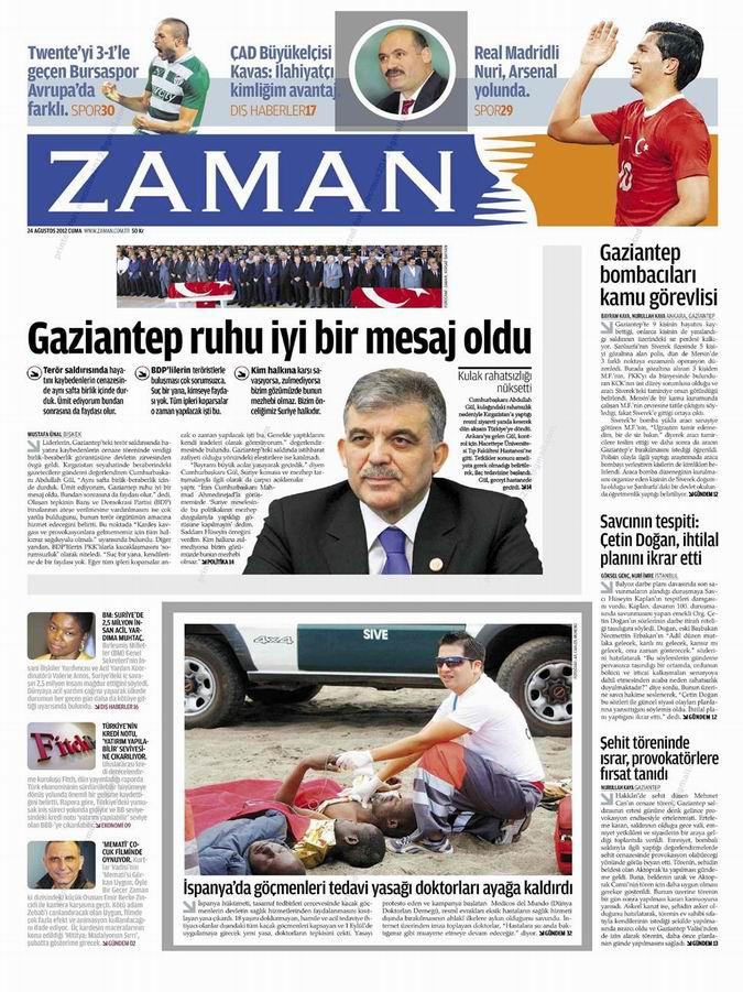 Gazete Manşetleri - 24 Ağustos Cuma galerisi resim 1