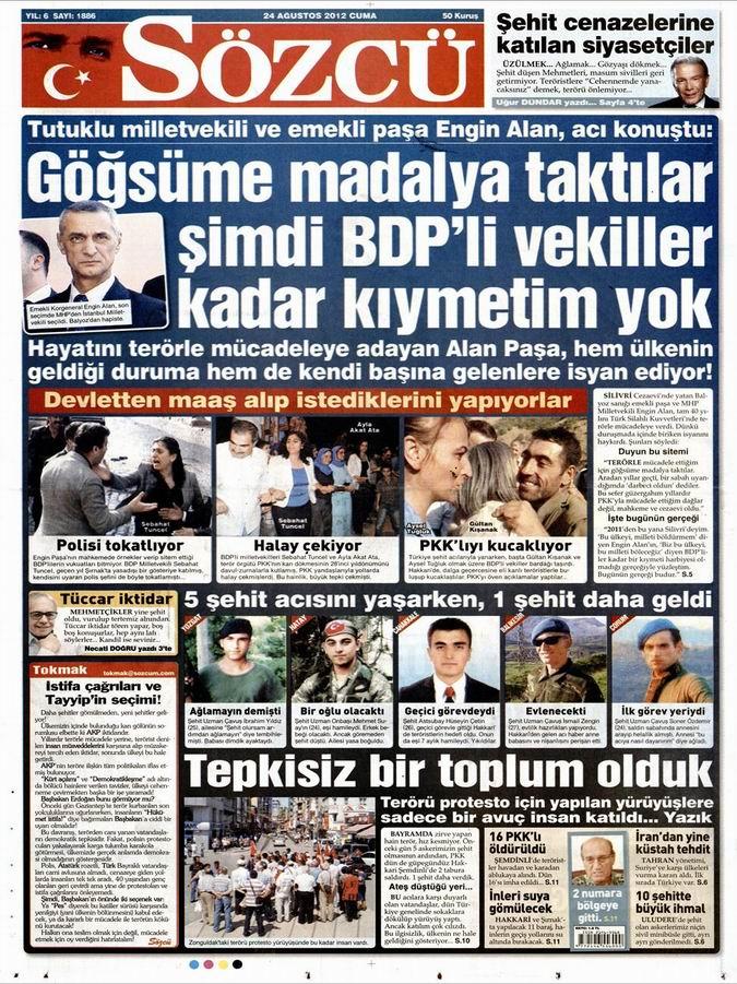 Gazete Manşetleri - 24 Ağustos Cuma 10