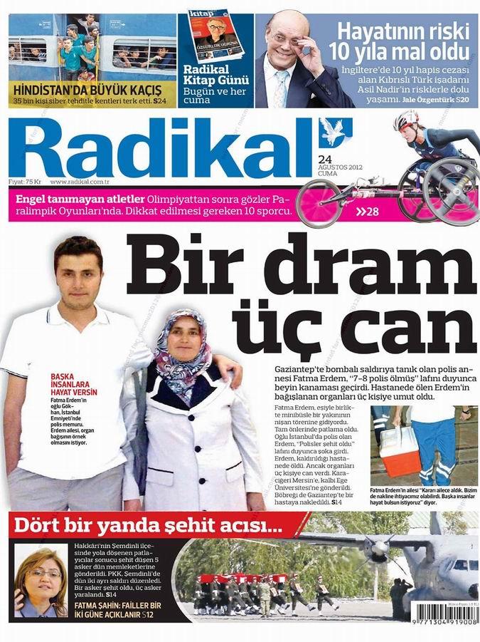 Gazete Manşetleri - 24 Ağustos Cuma 12