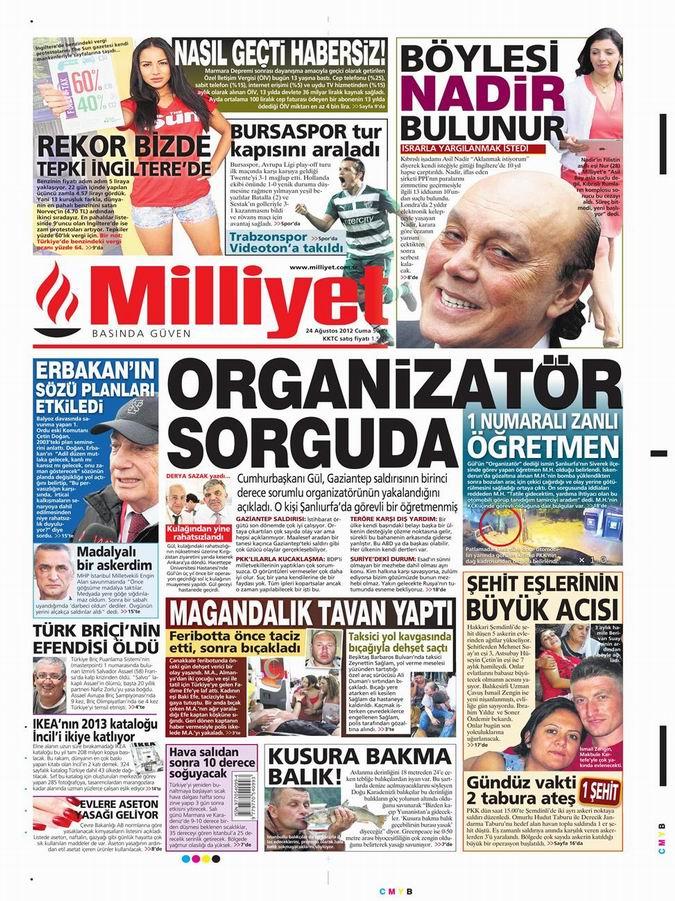 Gazete Manşetleri - 24 Ağustos Cuma 15