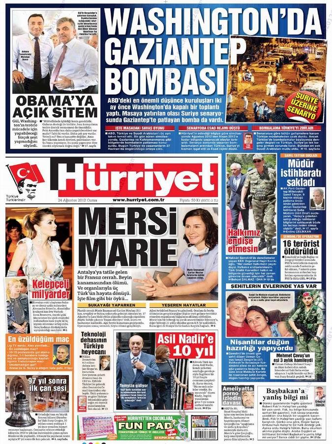 Gazete Manşetleri - 24 Ağustos Cuma 17