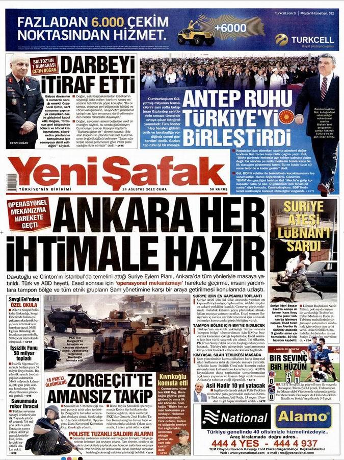 Gazete Manşetleri - 24 Ağustos Cuma 2