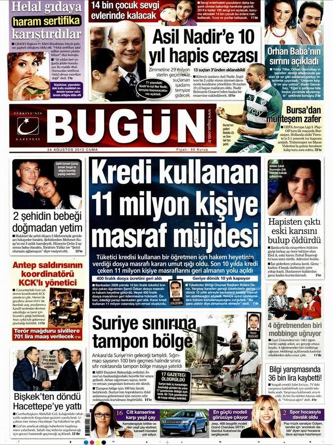 Gazete Manşetleri - 24 Ağustos Cuma 21