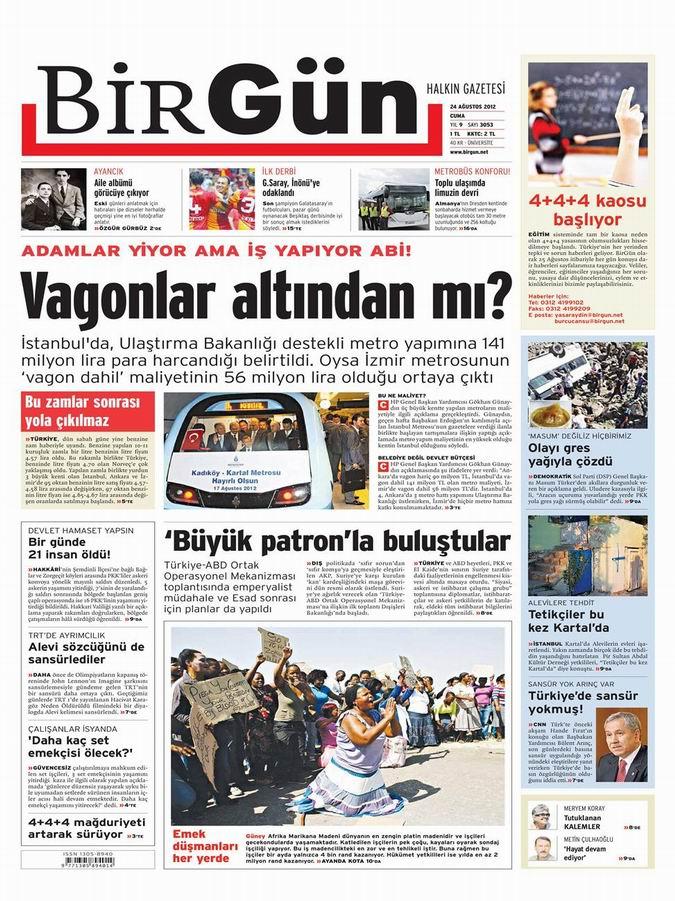 Gazete Manşetleri - 24 Ağustos Cuma 22