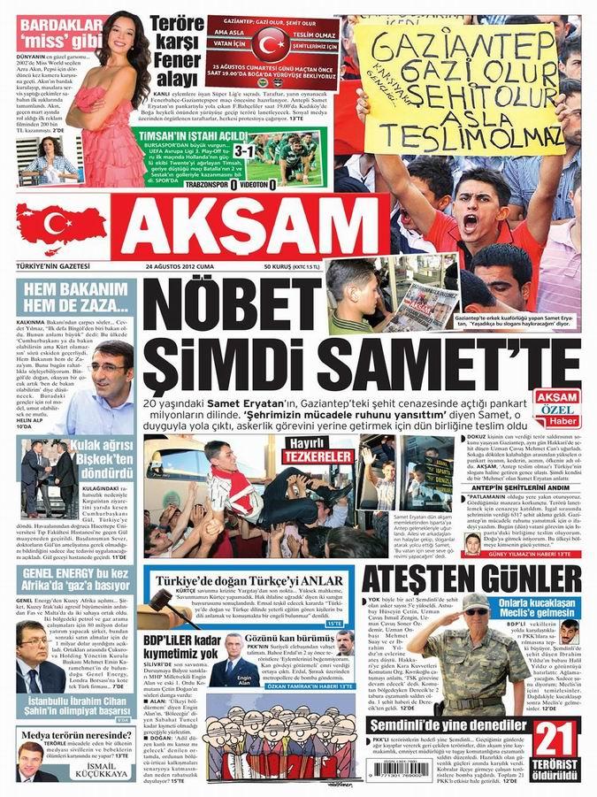 Gazete Manşetleri - 24 Ağustos Cuma 23