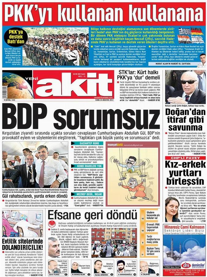 Gazete Manşetleri - 24 Ağustos Cuma 4